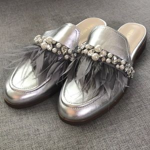 NEW Nine West silver slip in loafers